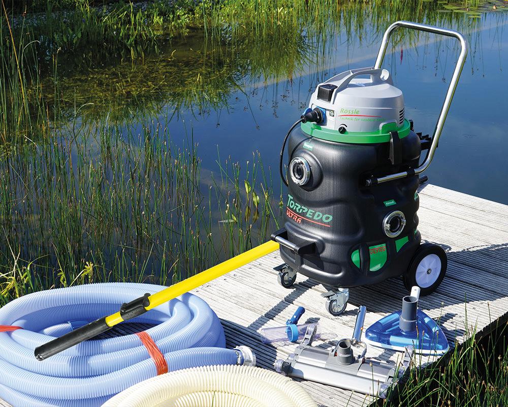 Lukas Kümmel – Garten- & Landschaftspflege: Teichreinigung mit dem Rössle Torpedo Ultra