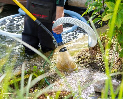 Lukas Kümmel – Garten- & Landschaftspflege: Teichreinigung mit verlustfreier Kiesreinigung